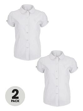 top-class-girls-easy-care-puff-sleeve-shirts-2-pack