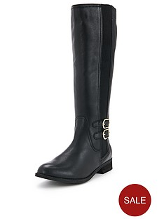 foot-cushion-blossom-leather-3-buckle-riding-boots-black