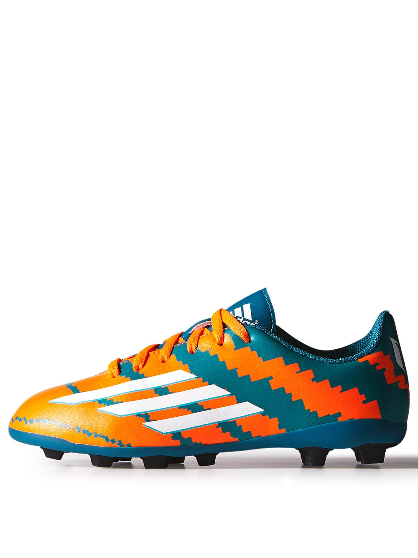 adidas Junior Messi 10.4 Firm Ground Football Boots - Orange, Orange