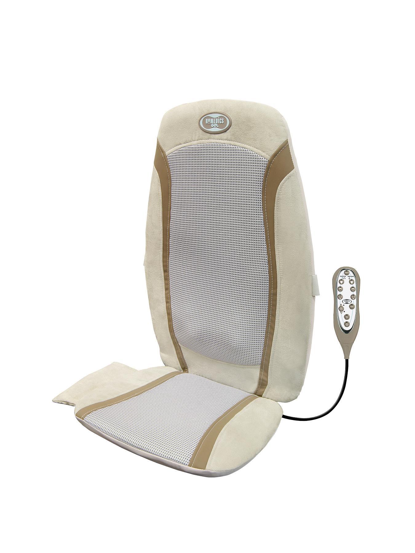 Homedics Gel Shiatsu Massage Cushion - Grey