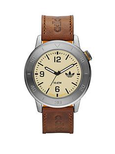 adidas-manchester-brown-leather-silicone-mens-watch