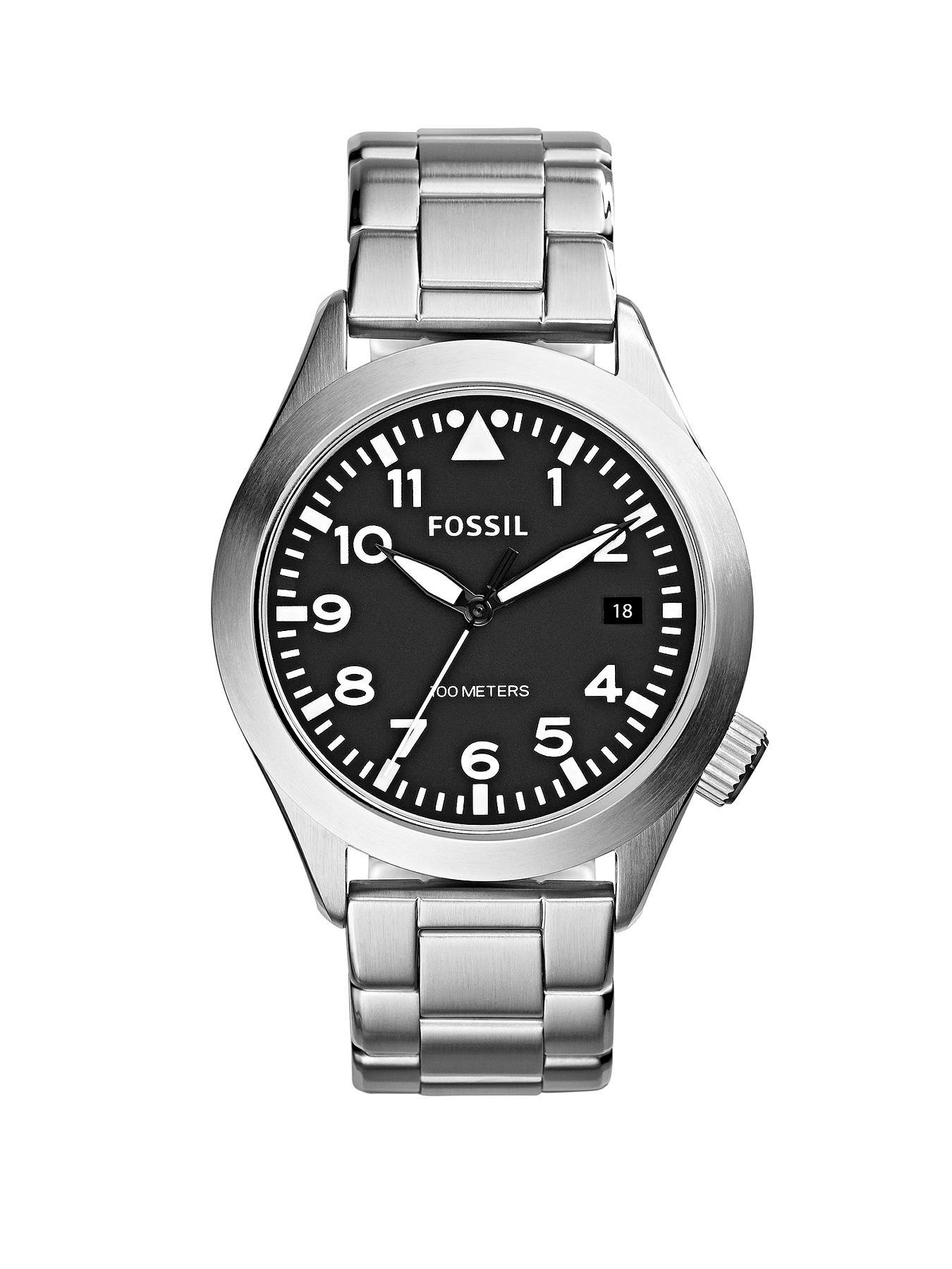 Fossil Aeroflite Stainless Steel Mens Watch