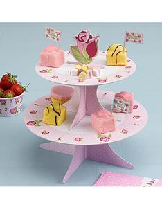 vintage-rose-cupcake-stand
