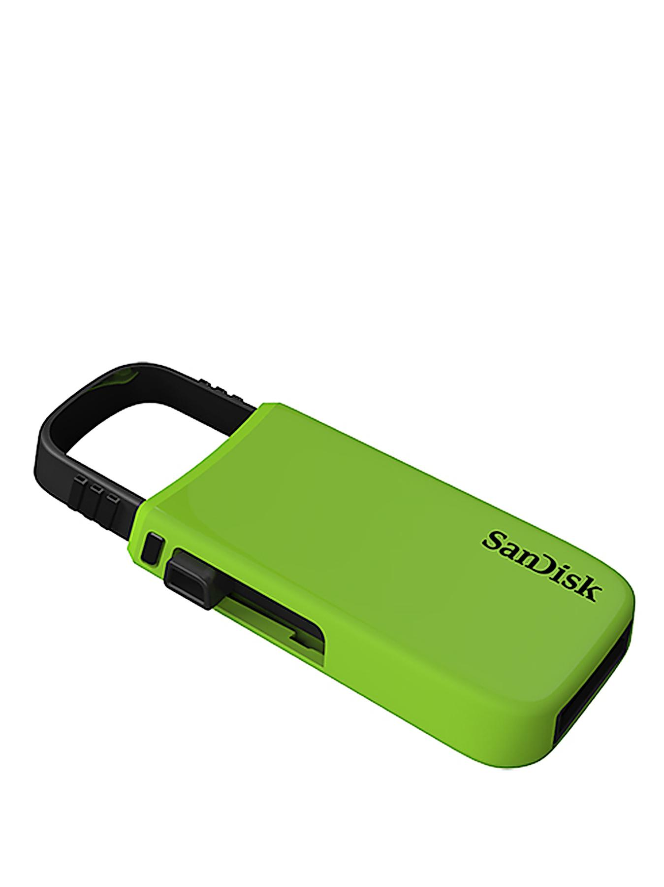 SanDisk Cruzer U 64GB USB Flash Drive - Green - Green, Green