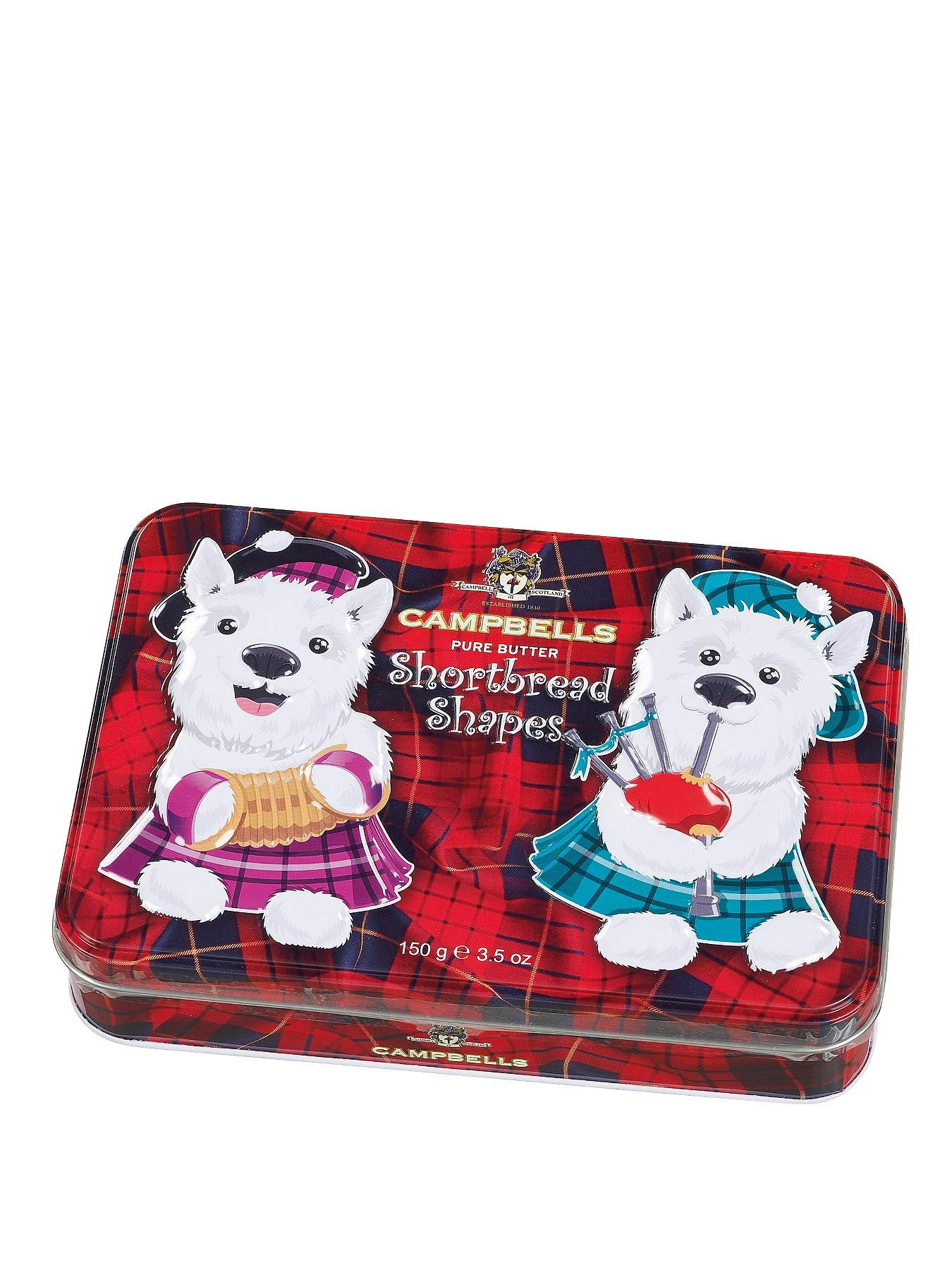 Assorted Shortbread Shapes in Westie Tin
