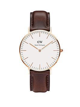 daniel-wellington-rose-gold-tone-leather-strap-unisex-watch