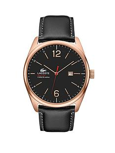 lacoste-black-leather-rose-gold-plated-steel-strap-mens-watch