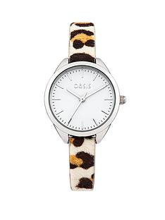 oasis-leopard-print-leather-strap-ladies-watch