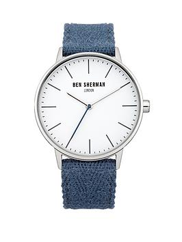 Ben Sherman White Dial Blue Strap Mens Watch