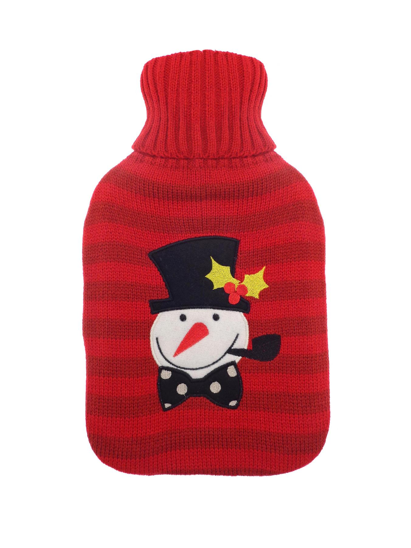 Mr Snowman Hot Water Bottle - Red