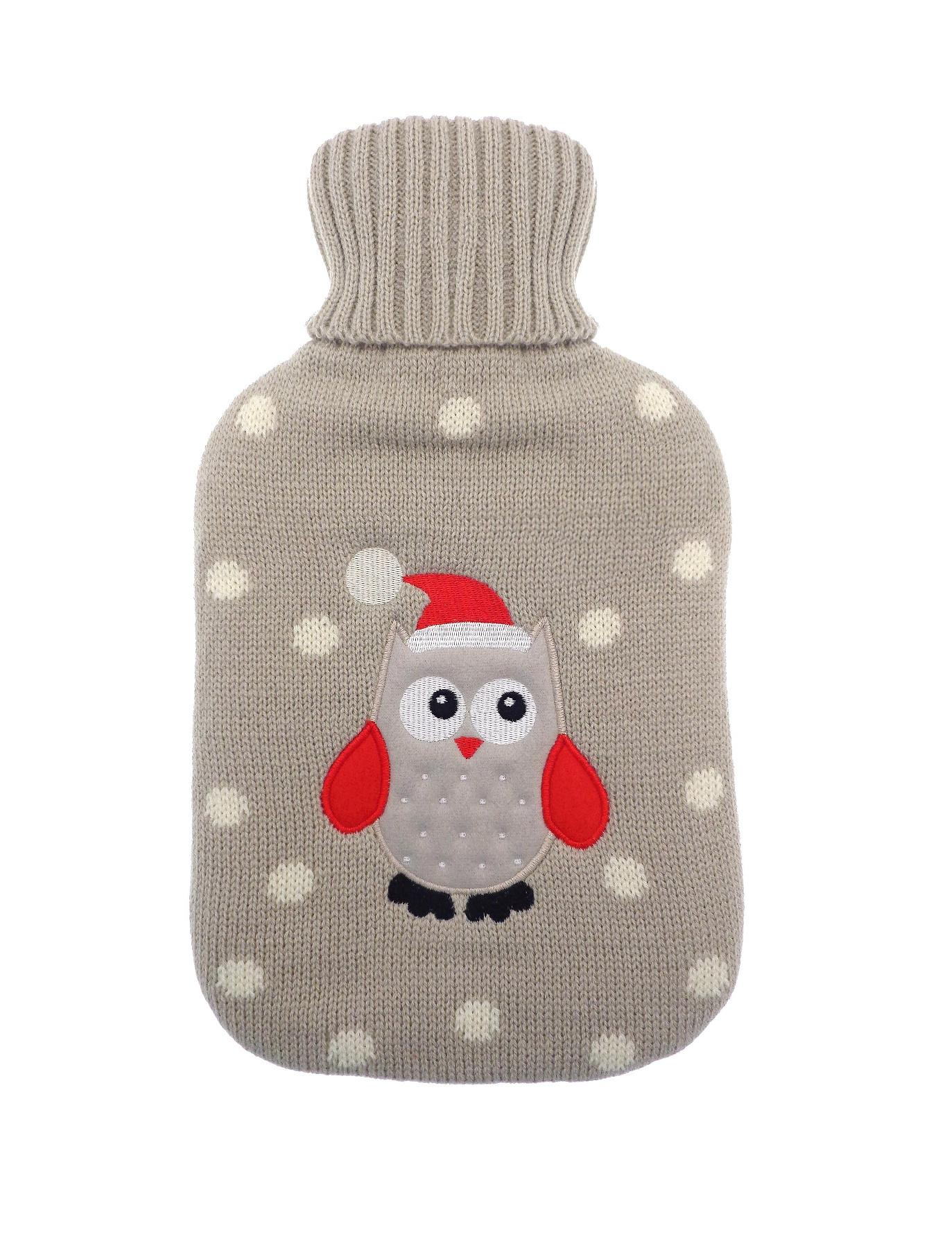 Owl Hot Water Bottle - Red