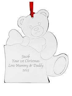 personalised-teddy-metal-tree-decoration