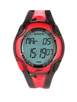 Speedo Aquacoach Watch - Red/Black