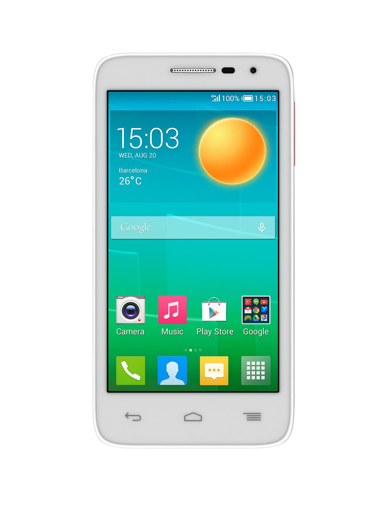 Alcatel Pop D5 Smartphone - White - White, White