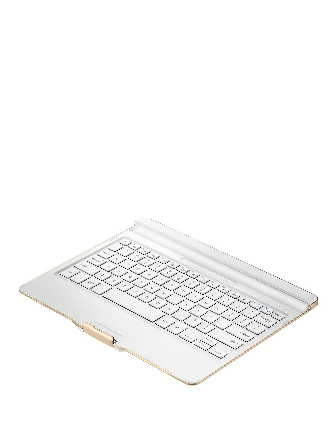 Samsung Galaxy Tab S 10.5 inch Bluetooth Keyboard Cover - White - White, White
