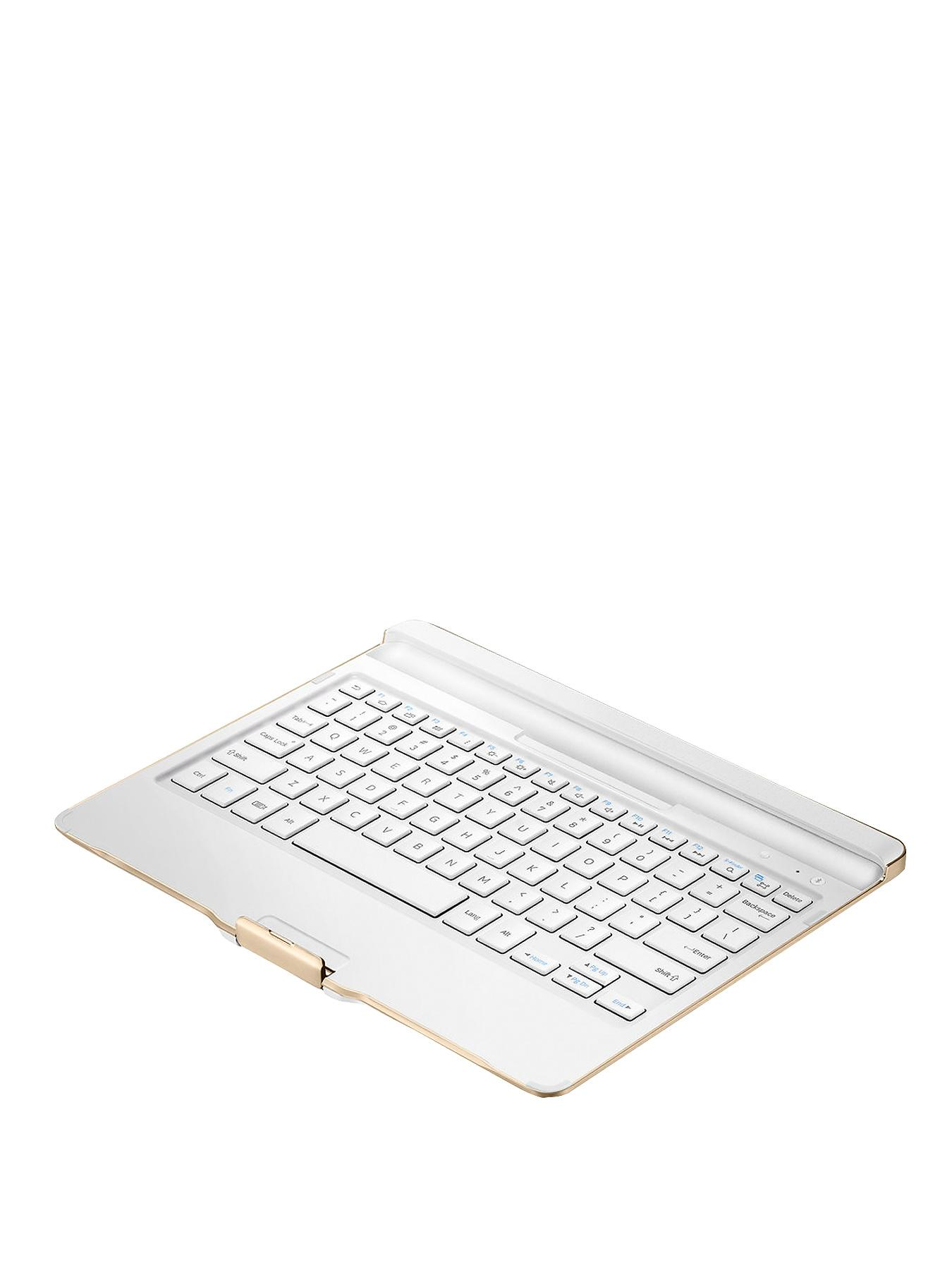 Samsung Galaxy Tab S 8.4 inch Bluetooth Keyboard Cover - White - White, White