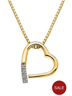 hot-diamonds-18-carat-yellow-gold-plated-sterling-silver-memories-pendant