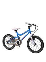 164 16 inch Boys Bike - Blue/White