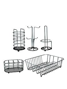 apollo-5-piece-black-dipped-chrome-kitchen-set