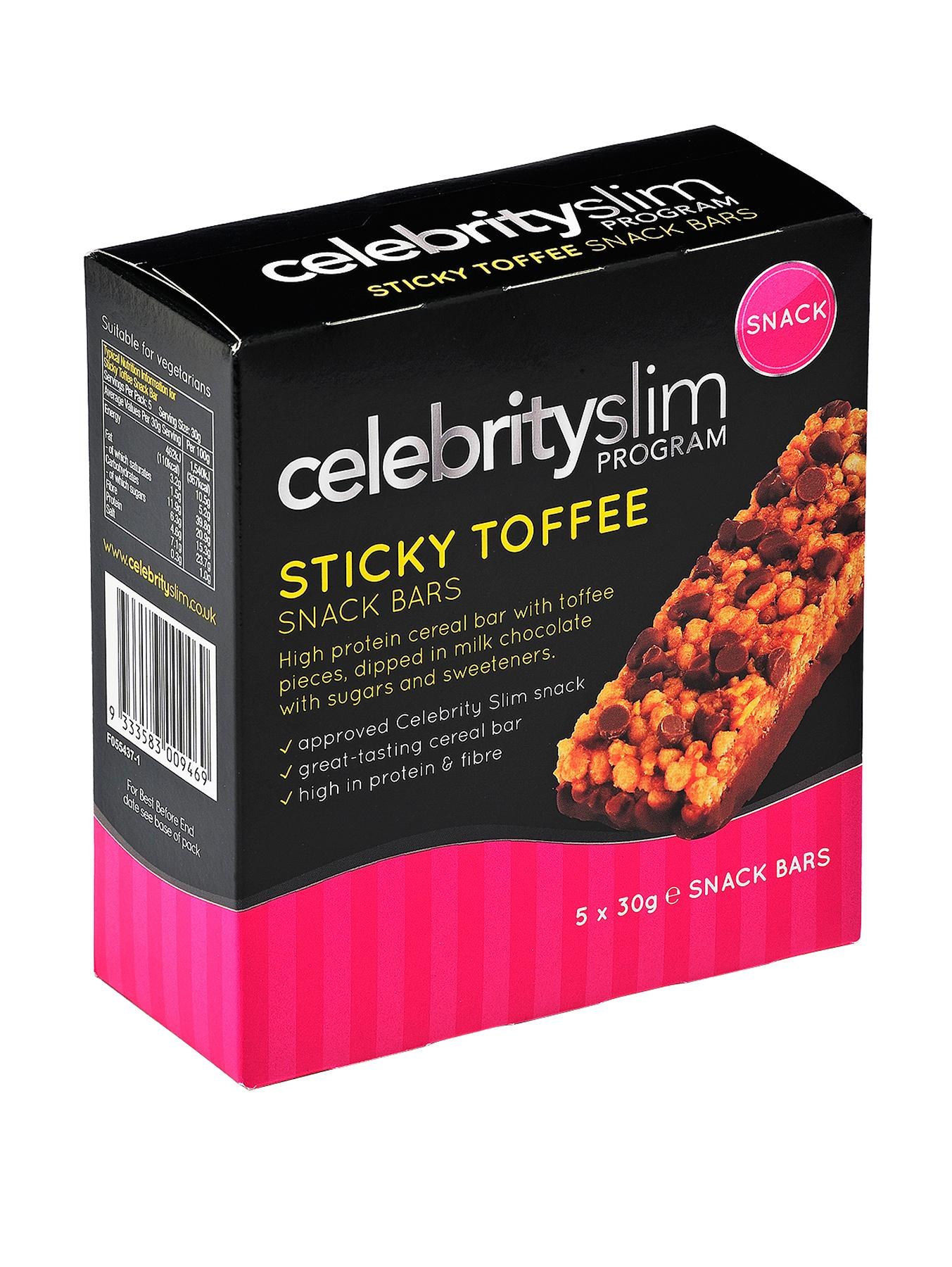 Celebrity Slim Sticky Toffee Snack Bar (5 pack)