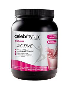 celebrity-slim-active-strawberry-shake-tub