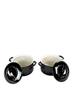 swan-round-casseroles-set-of-2-black