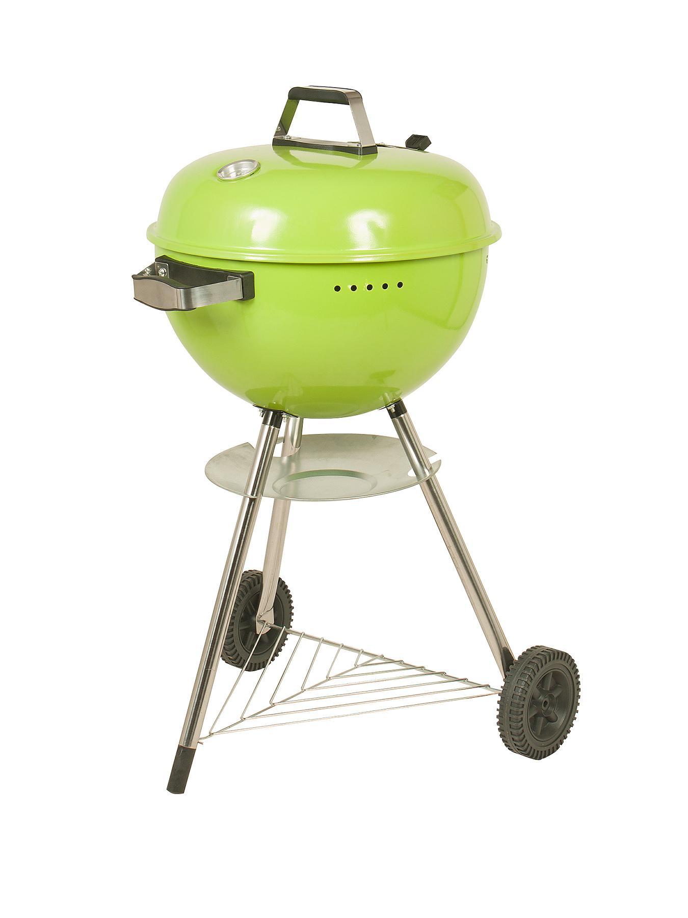 Deluxe Charcoal Kettle BBQ - Green - Green, Green