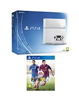 500GB White Console + FIFA 15 + FREE DriveClub & The Order: 1886