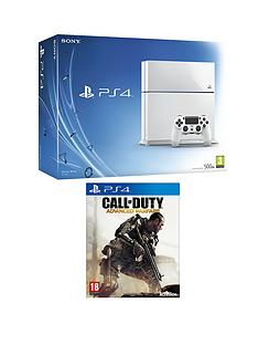 playstation-4-500gb-white-console-call-of-duty-advanced-warfare-free-infamous-second-son-the-order-1886