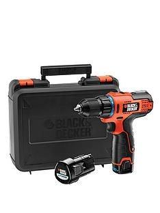 black-decker-hpl106kb-gb-108-volt-high-performance-ultra-compact-2-gear-drill-driver-with-2-lithium-batteries-and-kitbox