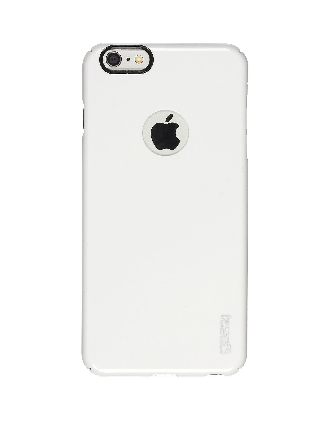 GEAR 4 iPhone 6 Plus Thin Ice Case with Black Camera Ring Case - White, White