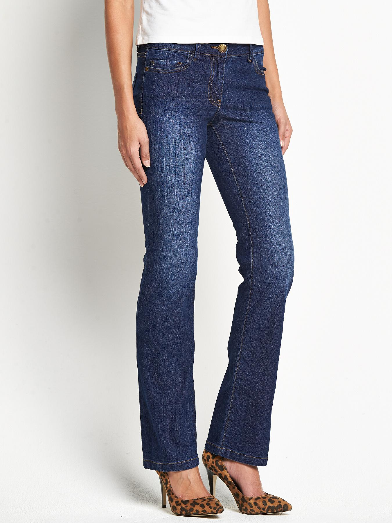 South Petite Opp Bootcut Jeans - Black, Black,Indigo