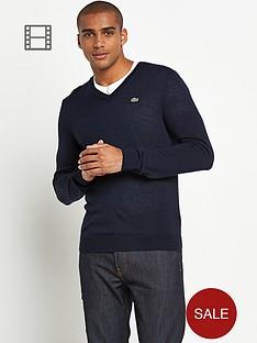 lacoste-v-neck-jumper