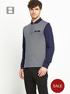 goodsouls-mens-jacquard-long-sleeve-polo-shirt