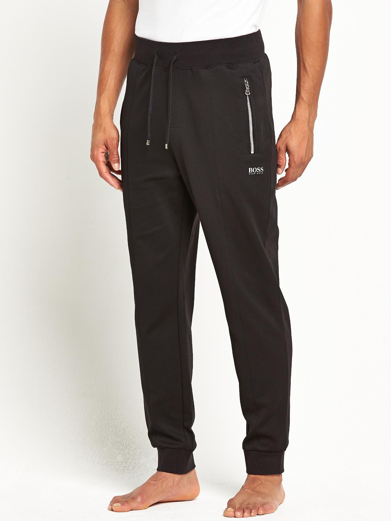 Hugo Boss Mens Cuffed Pants - Black, Black
