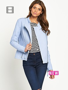 south-pastel-leather-look-biker-jacket