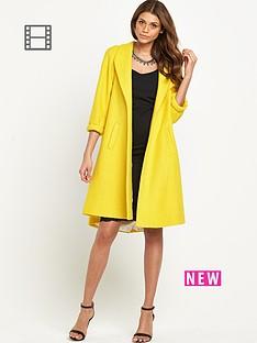 love-label-yellow-swing-coat