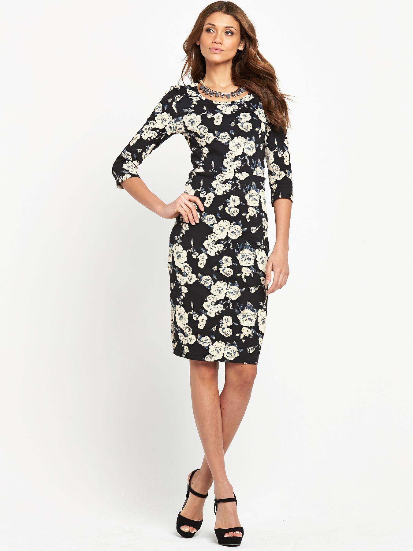 Vero Moda Cappuccino Flower Midi Dress