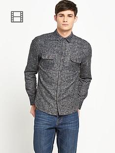 bellfield-mens-brushed-herringbone-shirt
