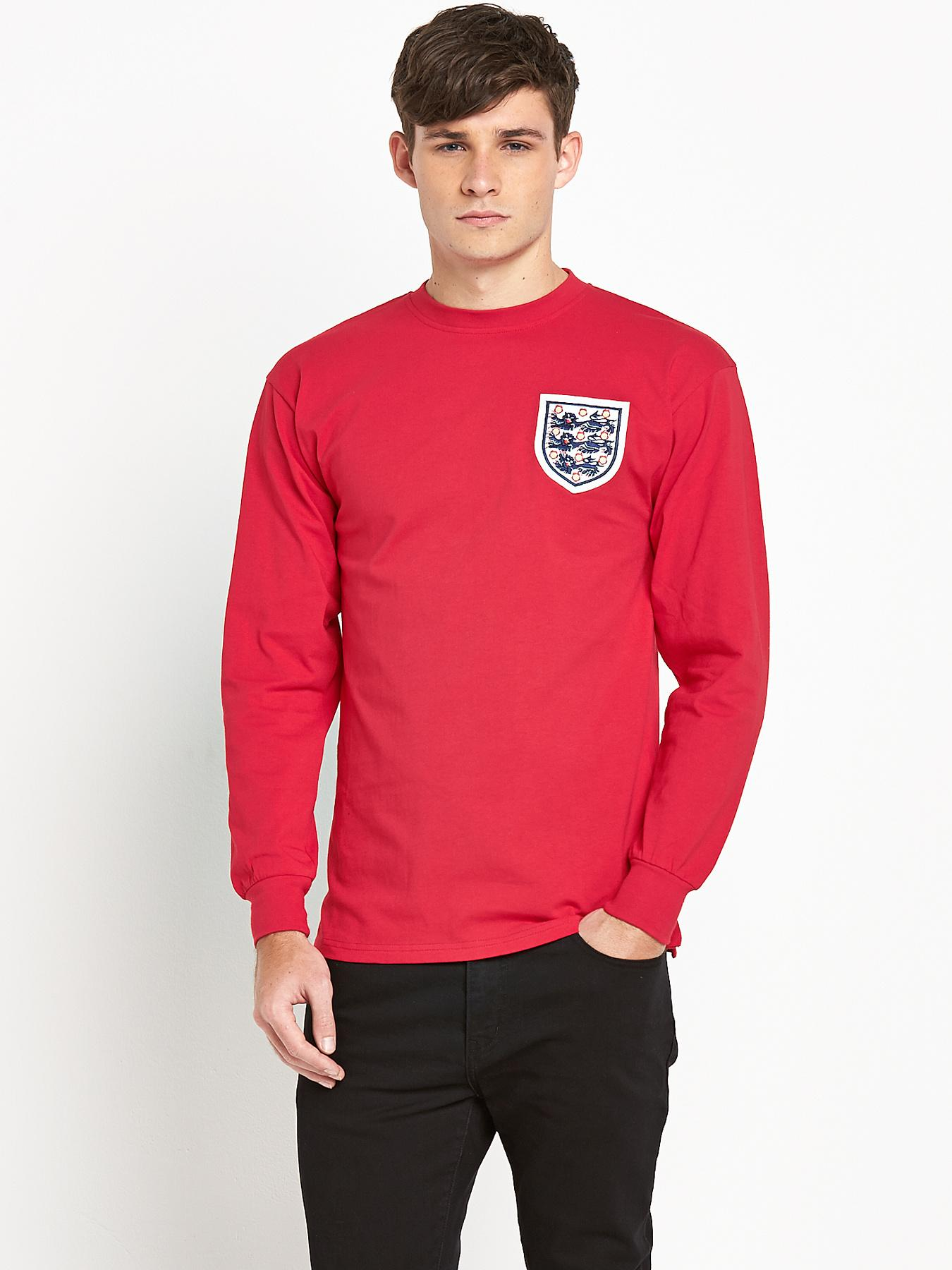 England Mens 1966 World Cup Final Away No6 shirt - Red, Red