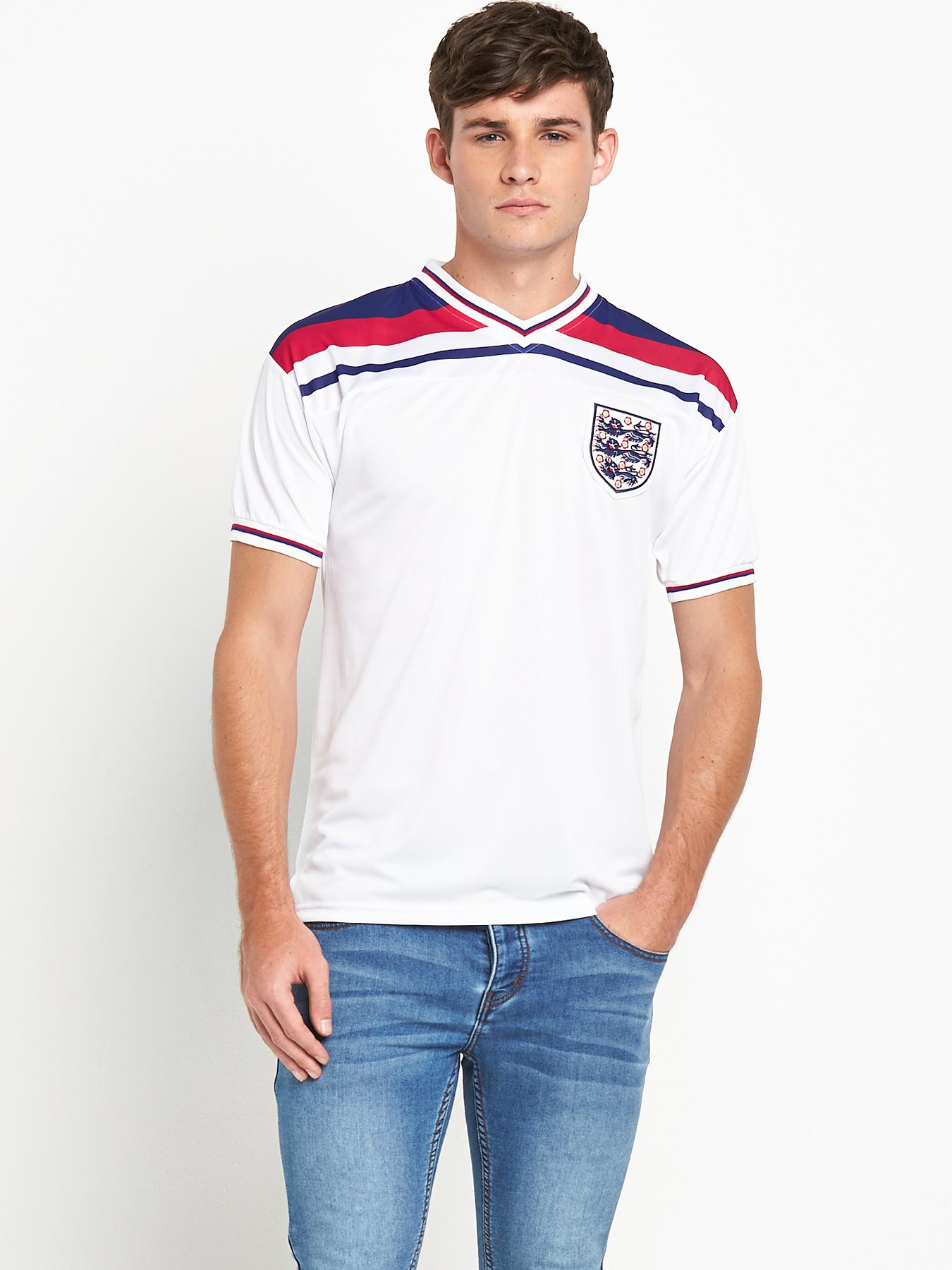 England Mens 1982 World Cup Finals Shirt - White, White