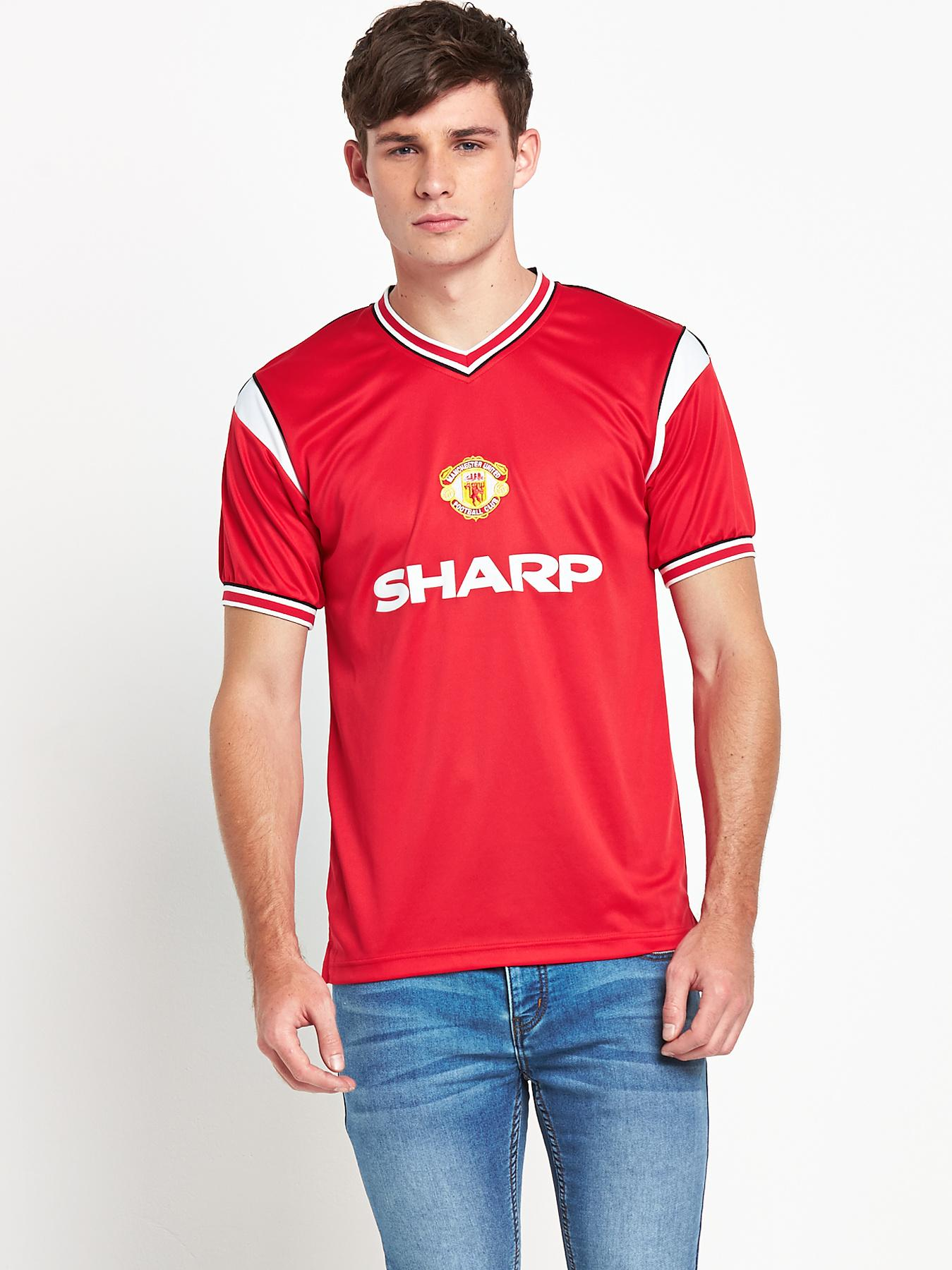 Manchester United Mens 1985 Home Shirt - Red, Red