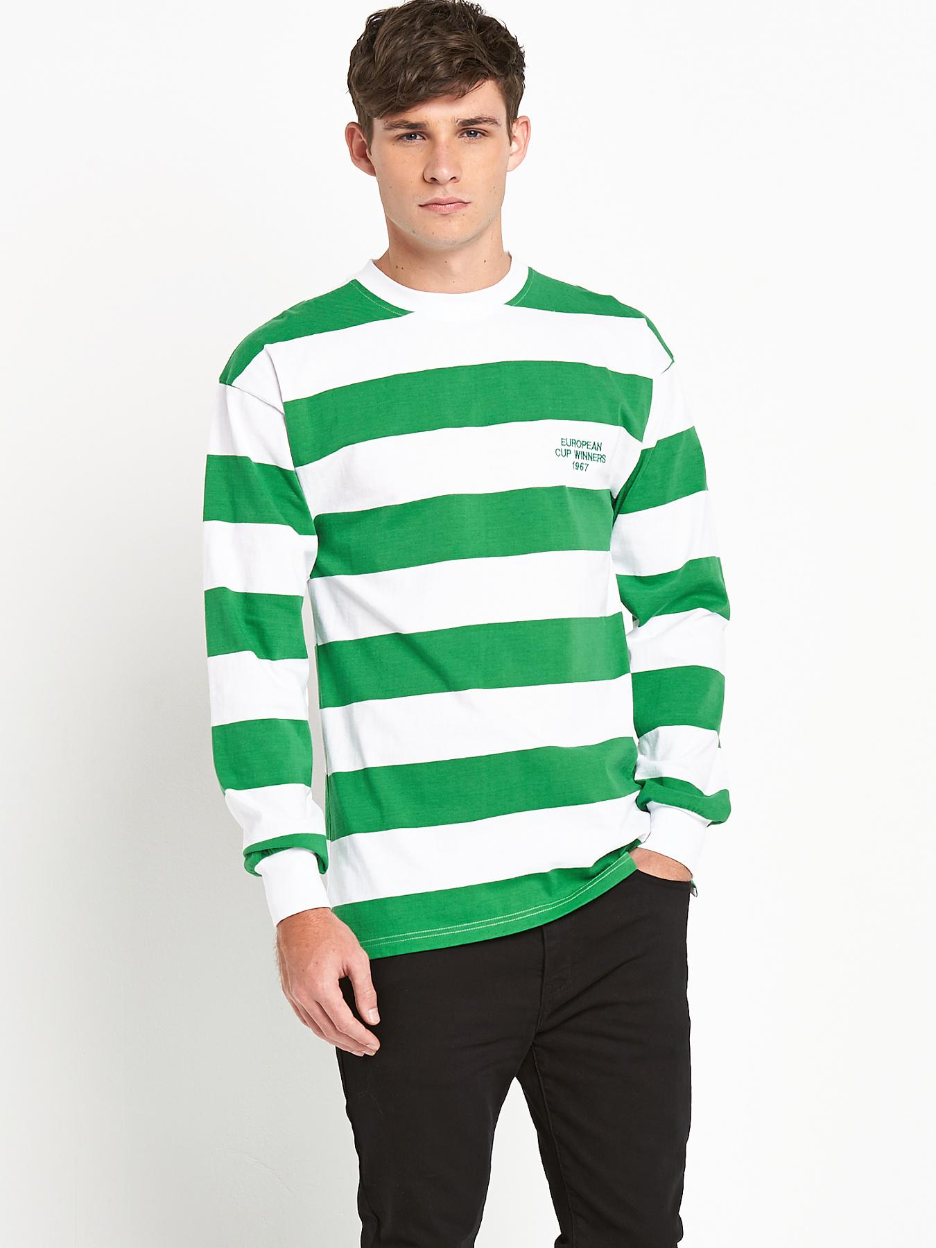 Celtic Mens 1967 European Cup Winners Long Sleeve Shirt - White, White