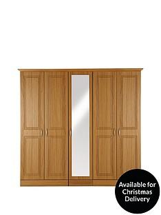 consort-dorchester-5-door-mirrored-wardrobe