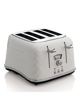 Delonghi Ctj4003.W Brillante 4-Slice Toaster - White
