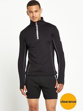 superdry-sport-runner-zip-henley-top-black