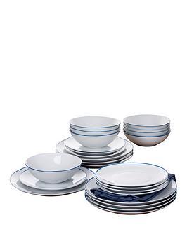 Countour 24-Piece Dinner Set (Blue)