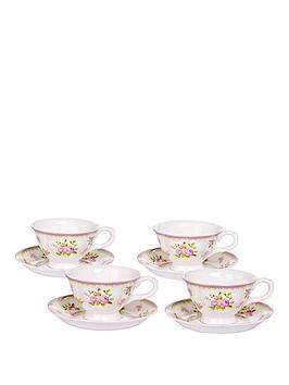 vintage-rose-4-cup-and-saucer-set