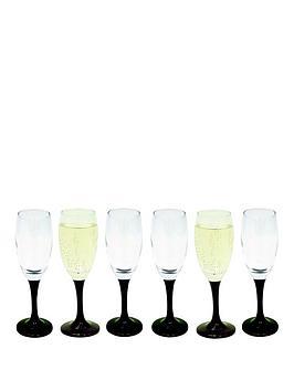 black-stem-flute-glasses