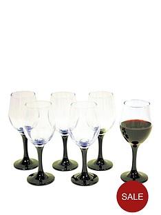 black-stem-wine-glasses-6pc